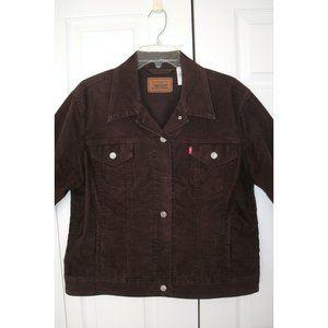 Levi Brown Corduroy Jean Style Jacket, XL